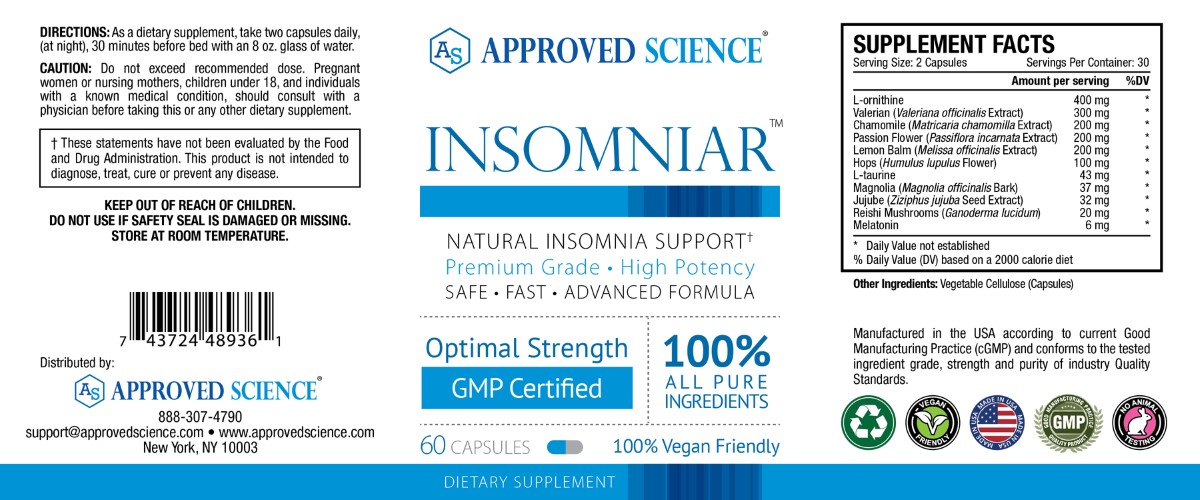Insomniar Supplement Facts